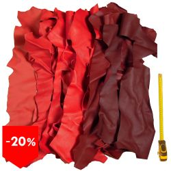 PROMO lot 3 kg chutes de cuir Rouges