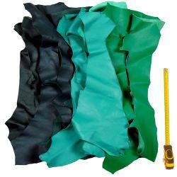 Lot 2 kg chutes de cuir Verts