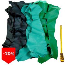 PROMO lot 15 kg chutes de cuir Verts