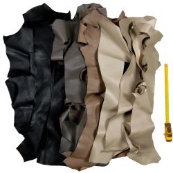 Lot 1 kg chutes de cuir multicolore classique