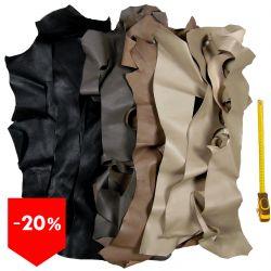 PROMO lot 15 kg chutes de cuir multicolore classique