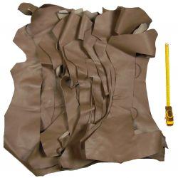 Lot 1 kg chutes de cuir Marron étoupe