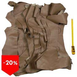 Lot 5 kg chutes de cuir Marron étoupe