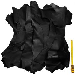 Lot 2 kg chutes de cuir Noir