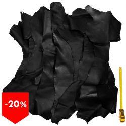 Lot 3 kg chutes de cuir Noir