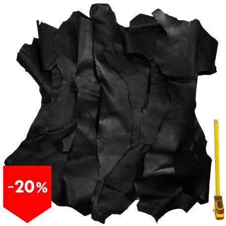 Lot 15 kg chutes de cuir Noir