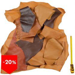 PROMO lot 3 kg chutes de cuir Marron