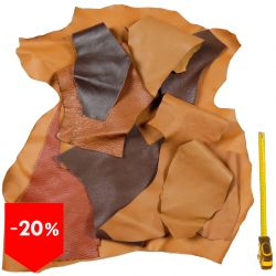 PROMO lot 10 kg chutes de cuir Marron