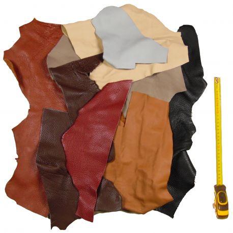 Lot 2 kg chutes de cuir coloris classique