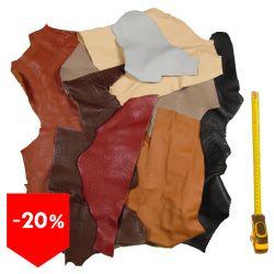 PROMO lot 3 kg chutes de cuir coloris classique