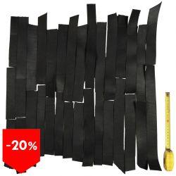 PROMO lot 3 kg bandes cuir tannage végétal noir