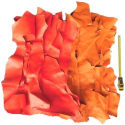 1 kg chutes de cuir Chèvre Rouge/Orange
