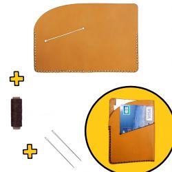 Kit à assembler Porte carte bleue en cuir DIY