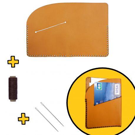 Kit Porte carte bleue en cuir prêt à assembler DIY
