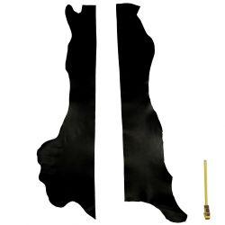 2 Grands morceaux de cuir Veau Noir