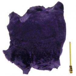 Peau entière d'Agneau avec poils Violet
