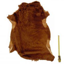 Peau entière d'Agneau avec poils Marron